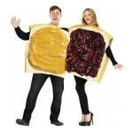 Fun World Peanut Butter And Jelly Couple Adult Costume One-Size (Standard)