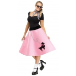 Adult Poodle Skirt: X-Small/Small, Everyday, Female, Adult