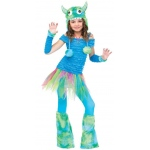 Blue Beasty Child Costume: Medium, Everyday, Female, Child