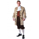 Colonial Man Adult Costume: Black, One-Size, Everyday, Male, Adult