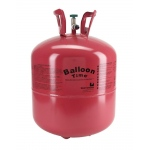 Disposable Helium Tank: Red, Birthday