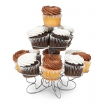 WILTON Fancy Wire Cupcake Stand Silver