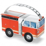 Fire Trucks Empty Favor Boxes (4): Birthday