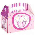 Birthday Express Girl's Lil' Cupcake 2nd Birthday Empty Favor Boxes