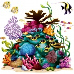 Coral Reef Props Add-On: Birthday
