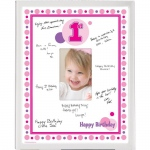 Birthday Express Pink Framed Signature Matte Pink/White