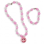 Amscan Barbie All Doll'd Up Bracelet & Necklace Set Pink
