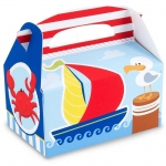 Anchors Aweigh Empty Favor Boxes (4): Birthday