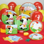Barnyard 1st Birthday Standard Party Pack for 8: Birthday