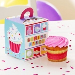Baking Bash Cupcake Boxes (4): Birthday