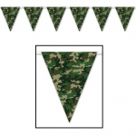 Camo Flag Pennant Banner (1): Birthday