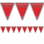 Bandana Pennant Banner (1): Red, Birthday