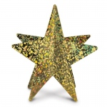 Beistle Company 3D Prismatic Star Centerpiece Silver