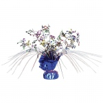 Multi-Color Musical Notes Foil Spray Centerpiece: Blue, Birthday