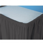 Creative Converting Black Velvet (Black) Plastic Table Skirt Black