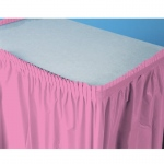Creative Converting Candy Pink (Hot Pink) Plastic Table Skirt Pink