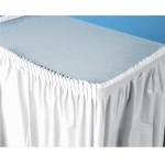 Creative Converting Bright White (White) Plastic Table Skirt White