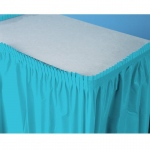 Creative Converting Bermuda Blue (Turquoise) Plastic Table Skirt Blue