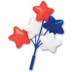Patriotic Star Balloon Cluster Cake Picks (4): 4th of July