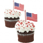 American Flag Cupcake Picks (12): 4th of July