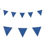 Creative Converting Blue with Polka Dots - Paper Flag Banner Blue