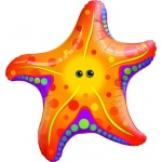 Super Sea Star Jumbo Foil Balloon: Birthday