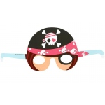Birthday Express Pretty Pirates Party Paper Masks Black/Pink