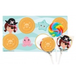 Birthday Express Pretty Pirates Party Small Lollipop Kit