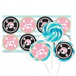 Birthday Express Pretty Pirates Party Large Lollipop Kit Pink/Blue