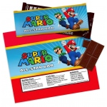 Super Mario Party Large Candy Bar Wrappers  (4 sheets of 2): Multi-colored, Birthday