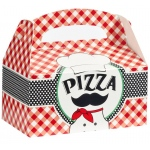 Itzza Pizza Party - Empty Favor Boxes - Black/White/Red