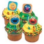 Sesame Street Rings Asst. (12): Various - color may vary, Birthday