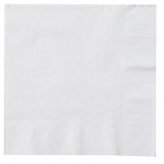 Creative Converting Bright White (White) Lunch Napkins White