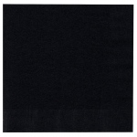 Creative Converting Black Velvet (Black) Lunch Napkins Black