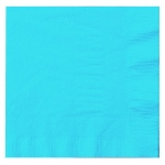 Creative Converting Bermuda Blue (Turquoise) Lunch Napkins Blue