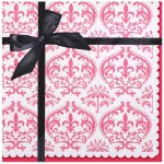 Paris Damask Lunch Napkins (20): Multi-colored, Birthday