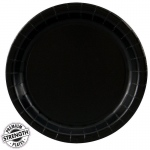 Black Velvet (Black) Dinner Plates (24): Birthday