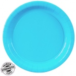 Bermuda Blue (Turquoise) Paper Dinner Plates (24): Birthday