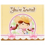 Birthday Express Pink Cowgirl Invitations Pink