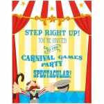Birthday Express Carnival Games Invitations