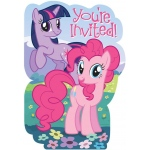 Amscan My Little Pony Friendship Magic Invitations Pink/Purple