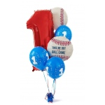 Birthday Express Baseball Time 1st Birthday Balloon Bouquet