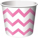 Creative Converting Chevron Stripe Treat Cups - Pink (6) Pink