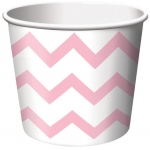 Creative Converting Chevron Stripe Treat Cups - Classic Pink (6) Pink