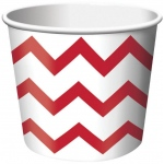 Creative Converting Chevron Stripe Treat Cups - Red (6) Red