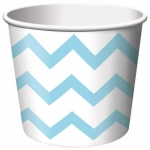 Creative Converting Chevron Stripe Treat Cups - Pastel Blue (6) Light Blue
