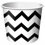 Creative Converting Chevron Stripe Treat Cups - Black (6) Black