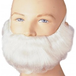 Rubie's Costumes Short White Beard and Moustache Adult One-Size