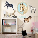 Ponies Giant Wall Decals: Multi-colored, Birthday