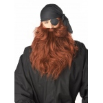 California Costumes Pirate Beard and Moustache - Red One-Size